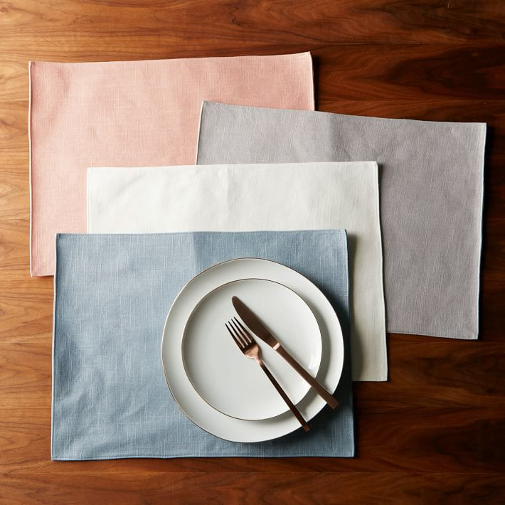 Metallic placemats from West Elm