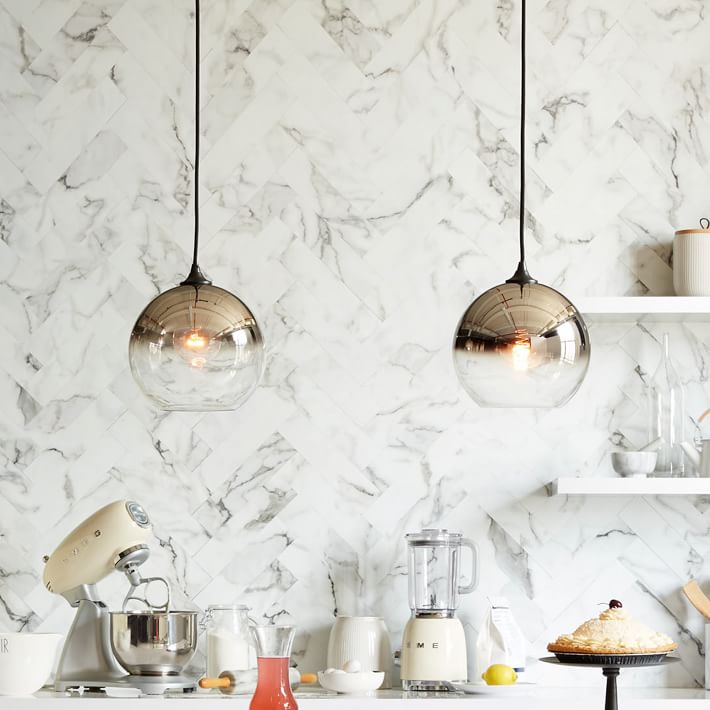 Mirrored pendants from West Elm