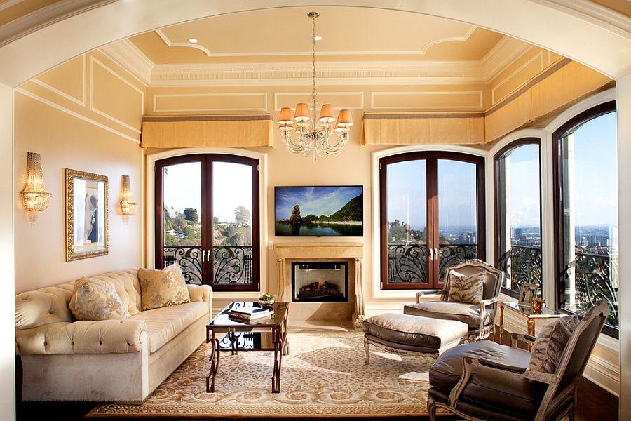 sunroom lighting ideas. modern la home with mediterranean-inspired sunroom [design: marco gualtieri] lighting ideas