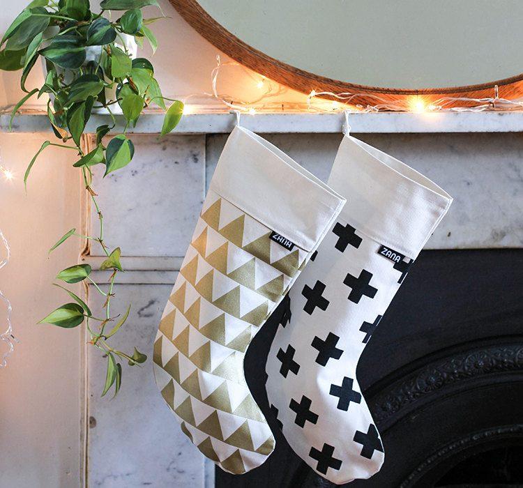 Christmas Stockings Gold