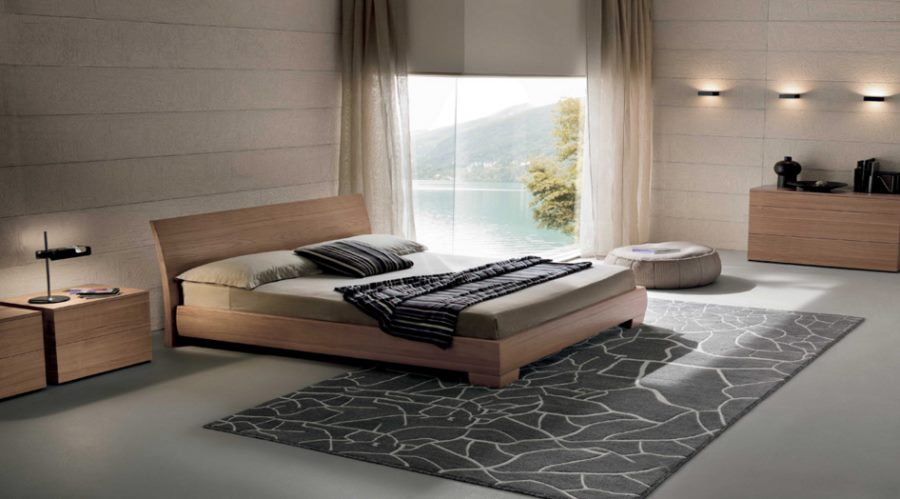 Modern wooden bed from Prestige Designs