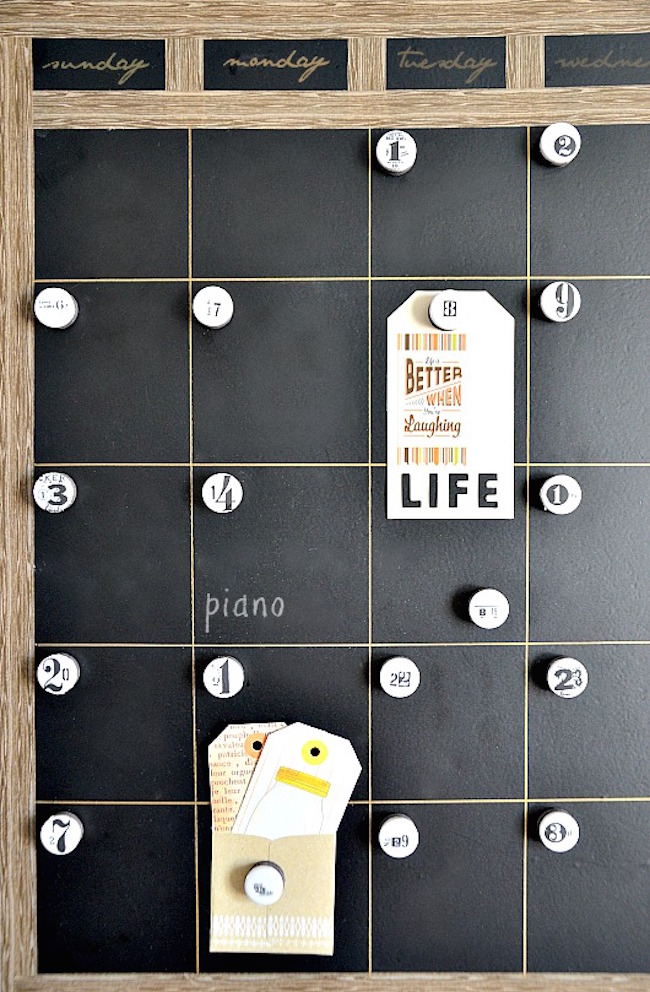 Calendar Photo Ideas For Each Month : Fun chalkboard calendar ideas to kick off the new year