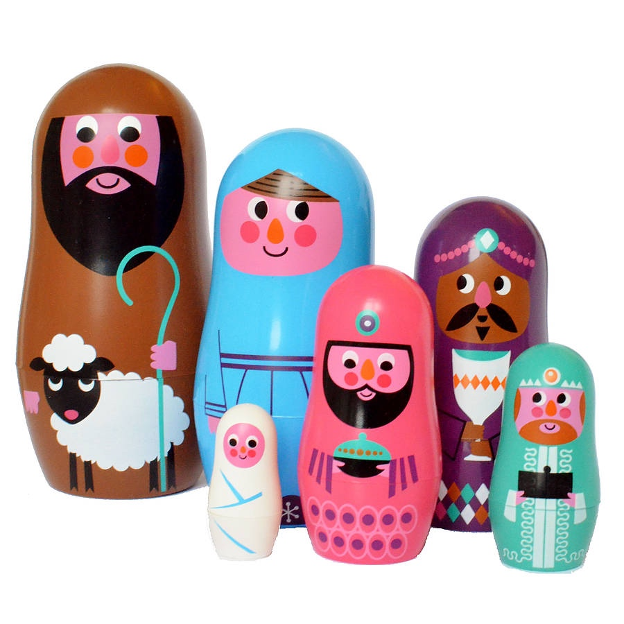 Nativity scene Matryoshka dolls