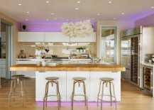 Neon lighting in the kitchen
