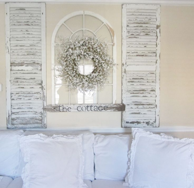 50 Cool And Creative Shabby Chic Dining Rooms: 7 Inspiring Ways To Use Vintage Shutters On Your Walls
