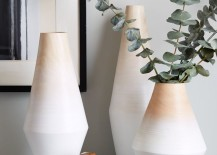 Ombre wood vases from West Elm
