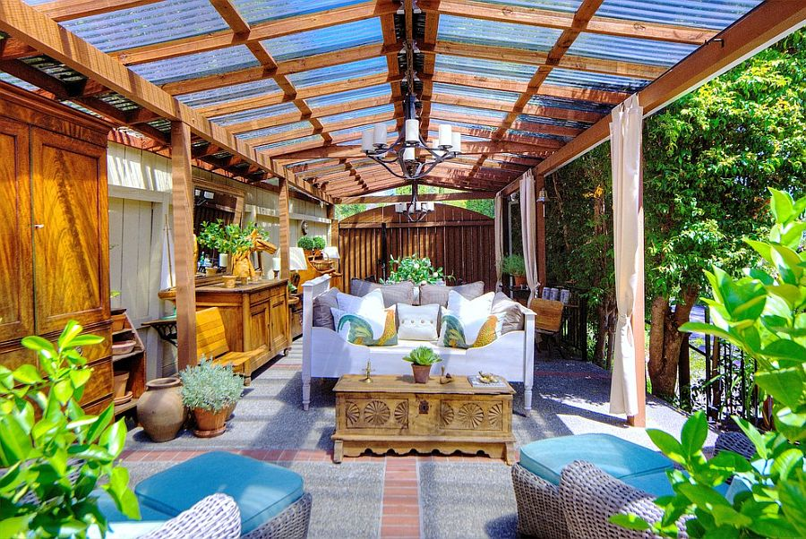Embracing warmth 25 mediterranean inspired sunrooms for a for Backyard sunroom