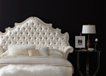 Opulent tufted bed from Horchow