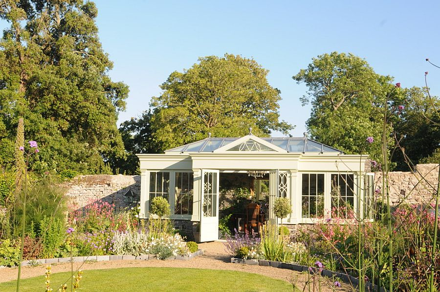 Orangery and sunroom rolled into one beautifully