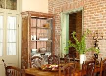 Original brick walls bring along with them a sense of history and warmth [Design: Logan Killen Interiors]