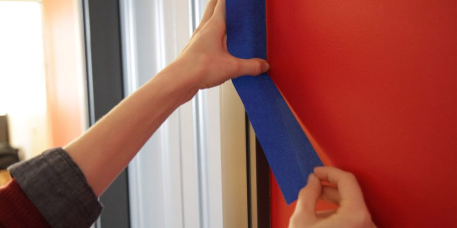Painter's tape helps prevent sticking