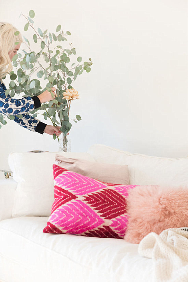 Patterned and textured pillows make a big impact