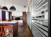 Pendant-lights-and-bar-stools-add-geometric-style-to-the-small-apartment-217x155