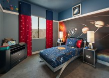 Perfect bedroom for a kid who loves the cosmos 217x155 Fun Neutrals: 25 Cool Kids' Bedrooms That Charm with Gorgeous Gray