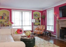 Pink-Corsage-on-the-walls-gives-the-room-a-fun-and-colorful-appeal-217x155