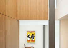Poster adds color to the neutral interior in white