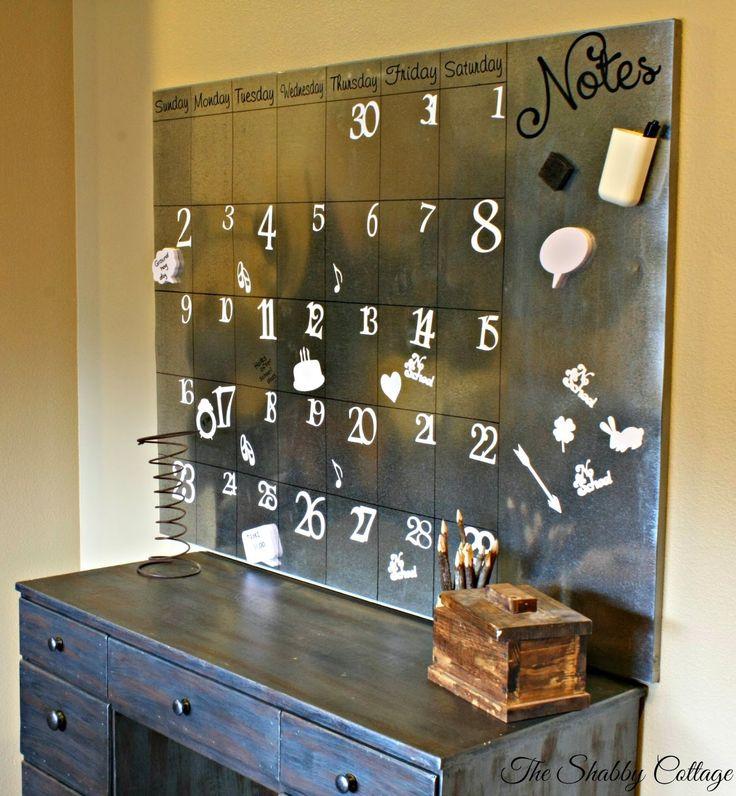 Pottery Barn inspired oversized galvanized calendar