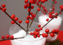 Red berry holiday centerpiece