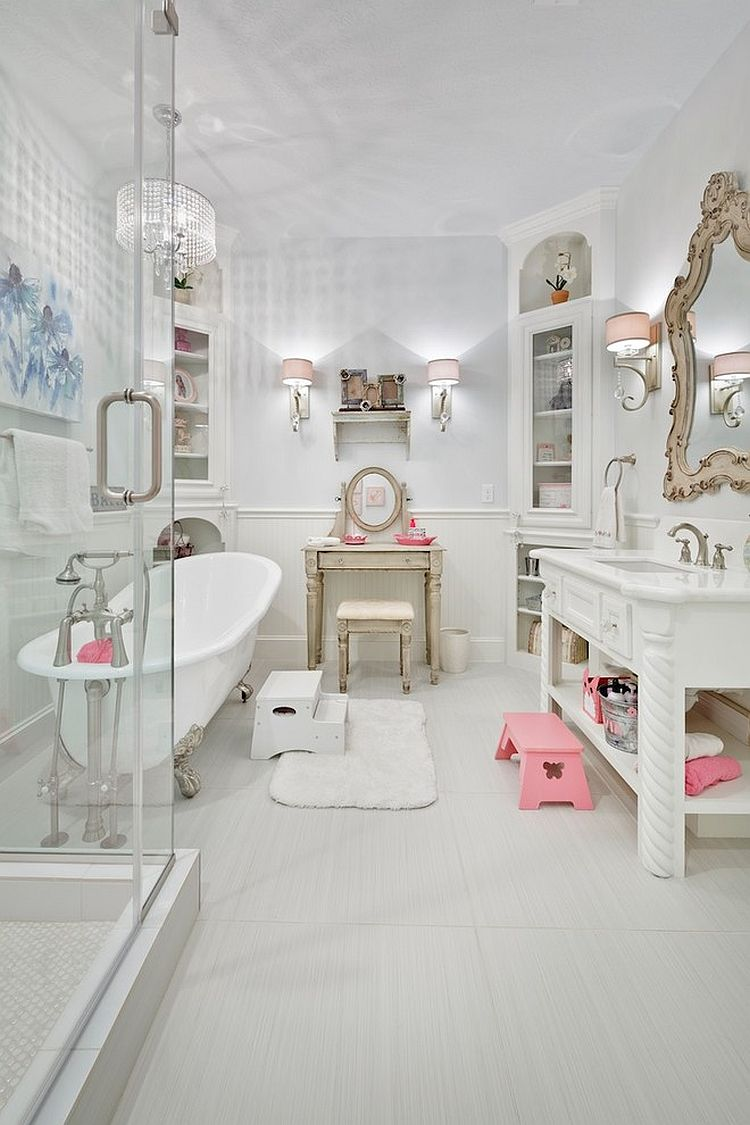 Revitalized luxury 30 soothing shabby chic bathrooms - Salle de bain style shabby ...