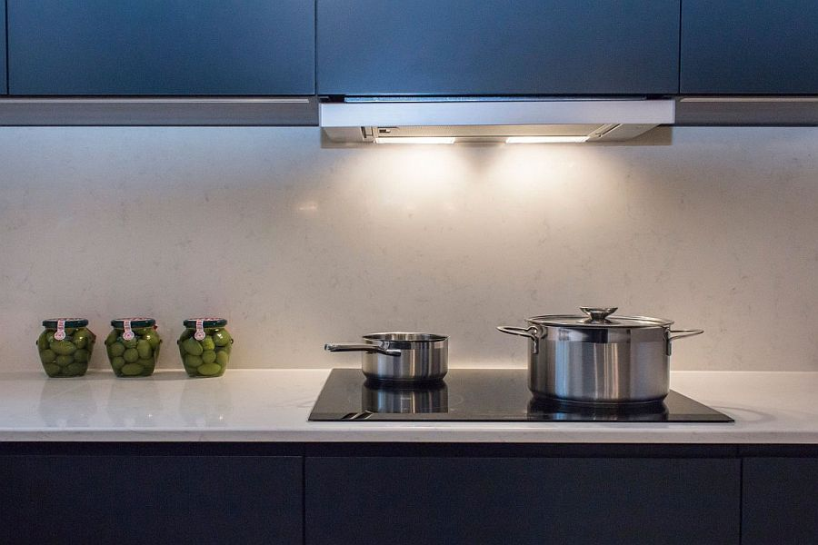 Revamped kitchen of the london apartment with smart lighting