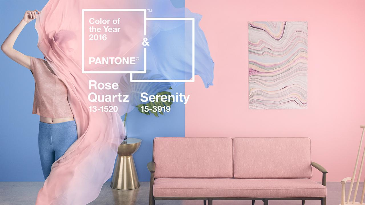 Rose Quartz and Serenity Pantones 2016 Color of the Year: Rose Quartz and Serenity