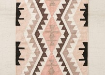 Rosy kilim rug from Anthropologie