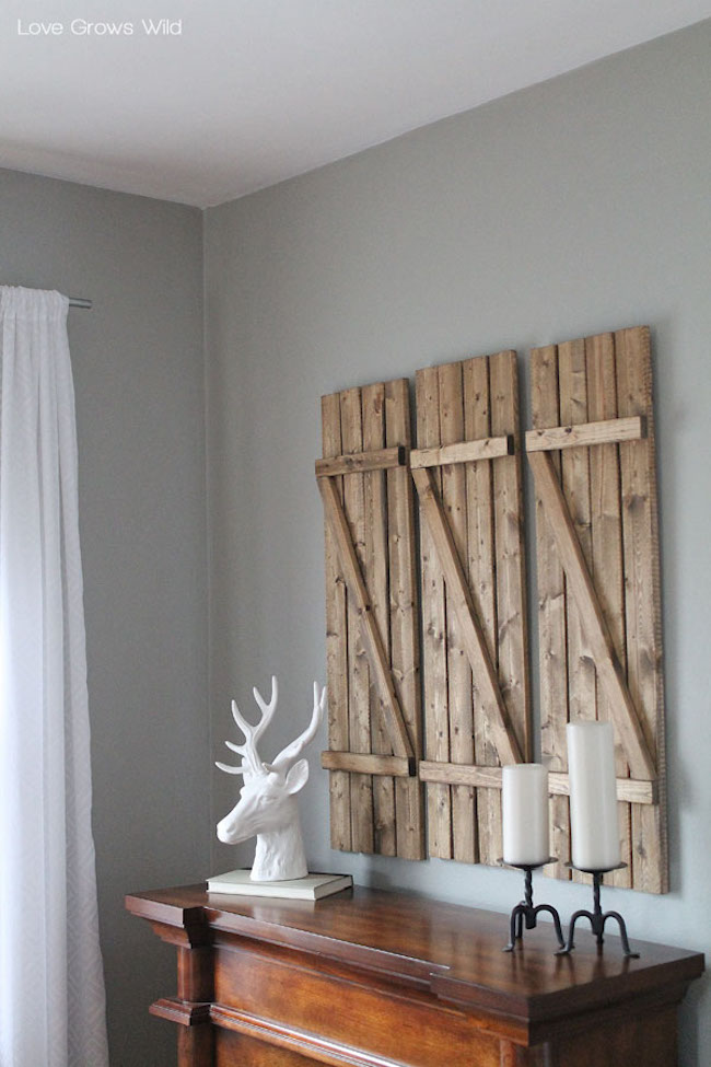 Rustic DIY barn wood shutters