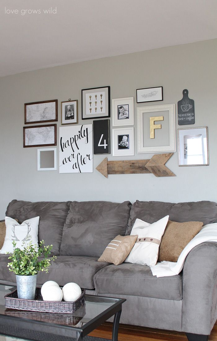 Exceptional View In Gallery Rustic Wooden Arrow Combined With Other Wall Art Pieces Design Ideas