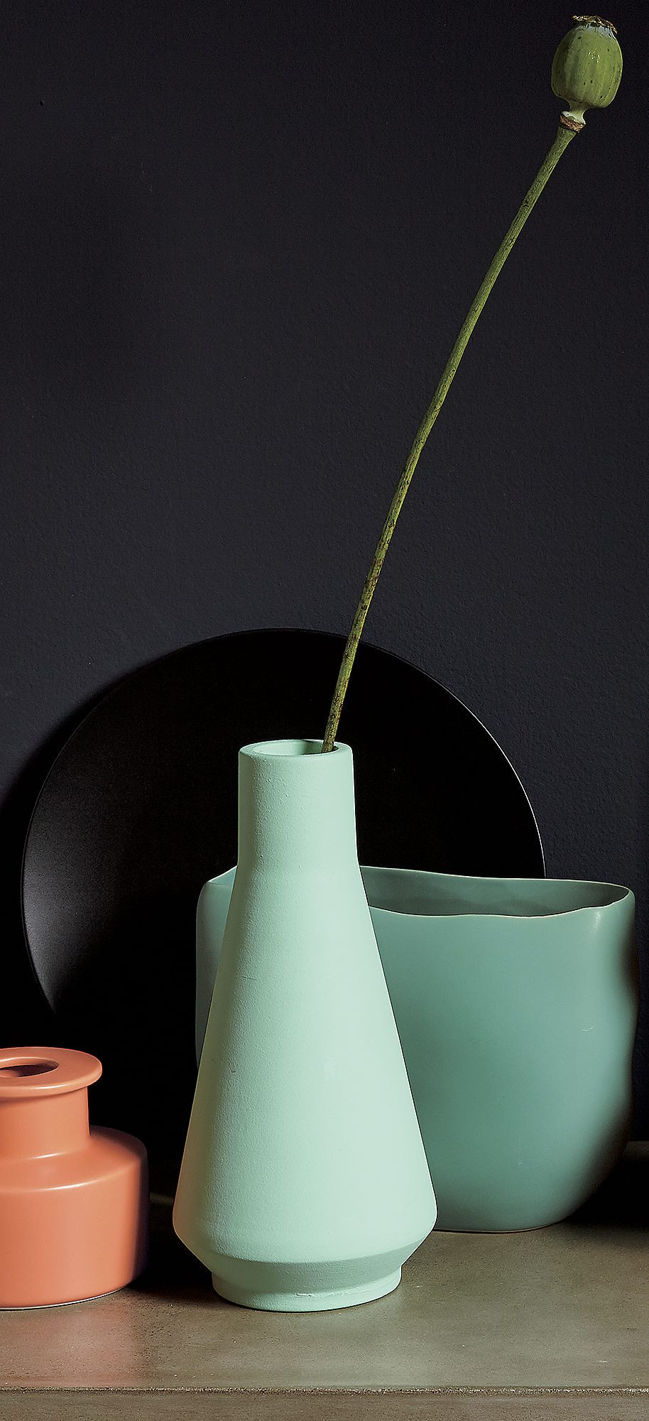 Seafoam green vase from CB2