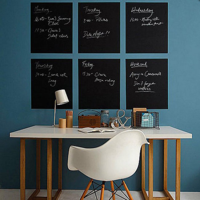 Separate chalkboards for each day