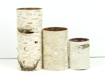 Set of 3 birch bark vases from Etsy shop Bettula