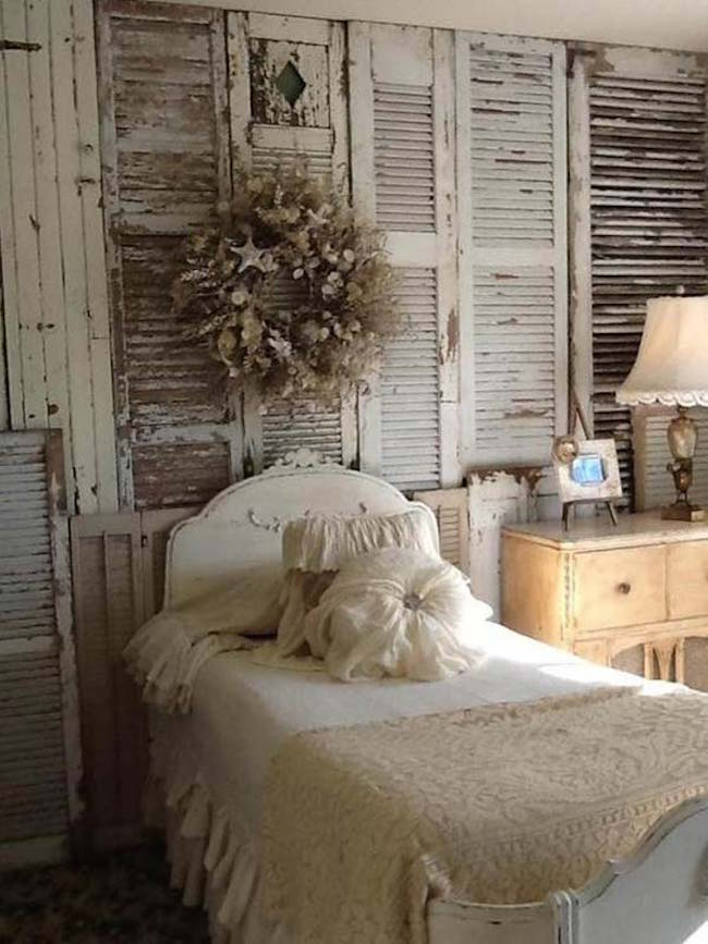 7 inspiring ways to use vintage shutters on your walls - Shutters for decoration interior ...