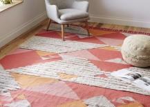 Shag wool kilim rug from West Elm