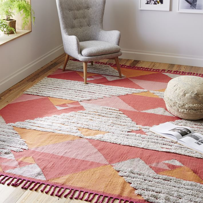 Shag Wool Kilim Rug From West Elm