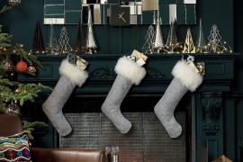 Sheepskin stockings from CB2