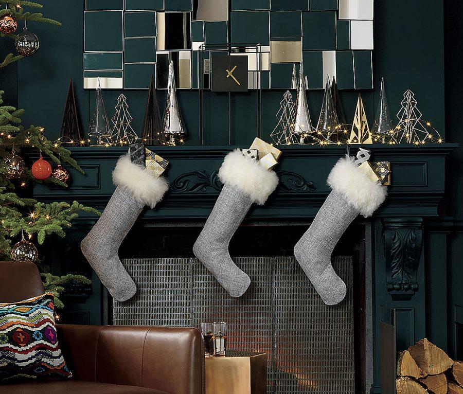 Sheepskin stockings from CB2