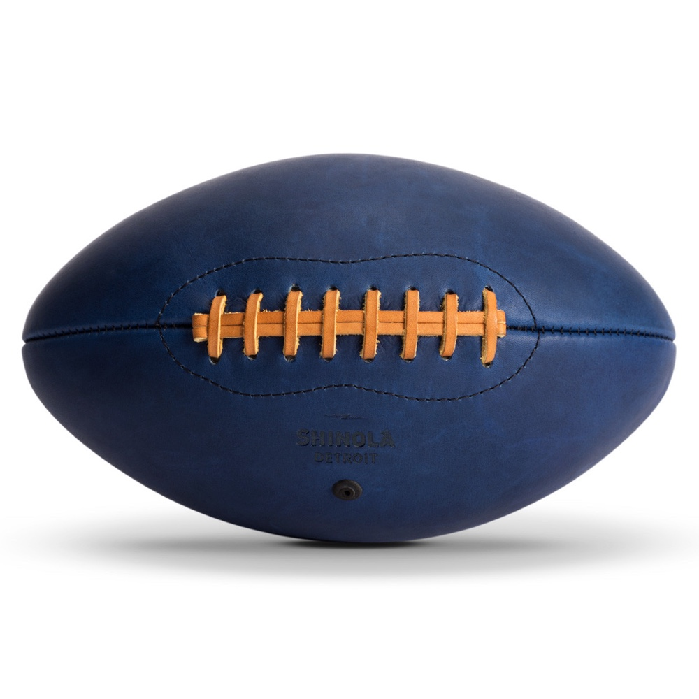 Shinola leather football blue