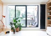Small balcony is turned into a cozy hub