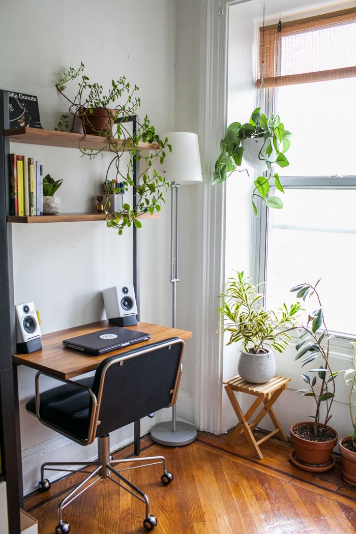 15 nature inspired home office ideas for a stress free for Office plants no natural light