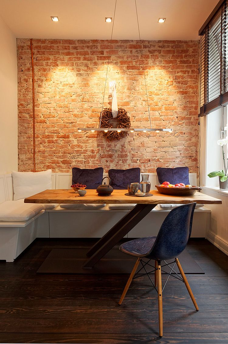 Small dining room makes elegant use of available space