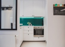 Small-kitchen-in-white-with-a-lovely-teal-backdrop-217x155