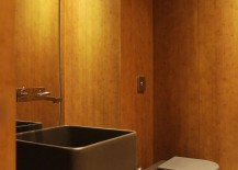 Small-modern-powder-room-deisgn-with-walls-clad-in-wood-217x155