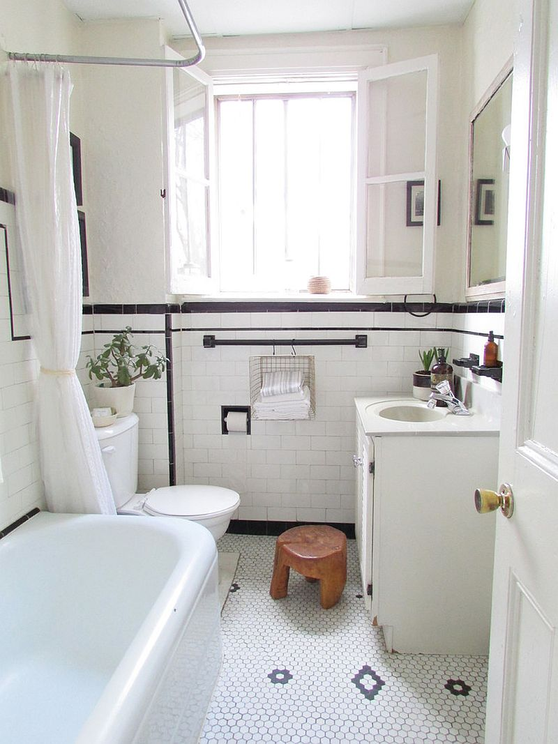 ... Small Shabby Chic Bathroom Idea [Design: Jenn Hannotte   Hannotte  Interiors]