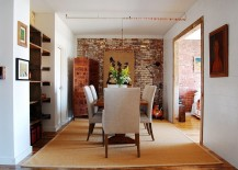Smart dining room of industrial loft home in Brooklyn [Photography: Corynne Pless]