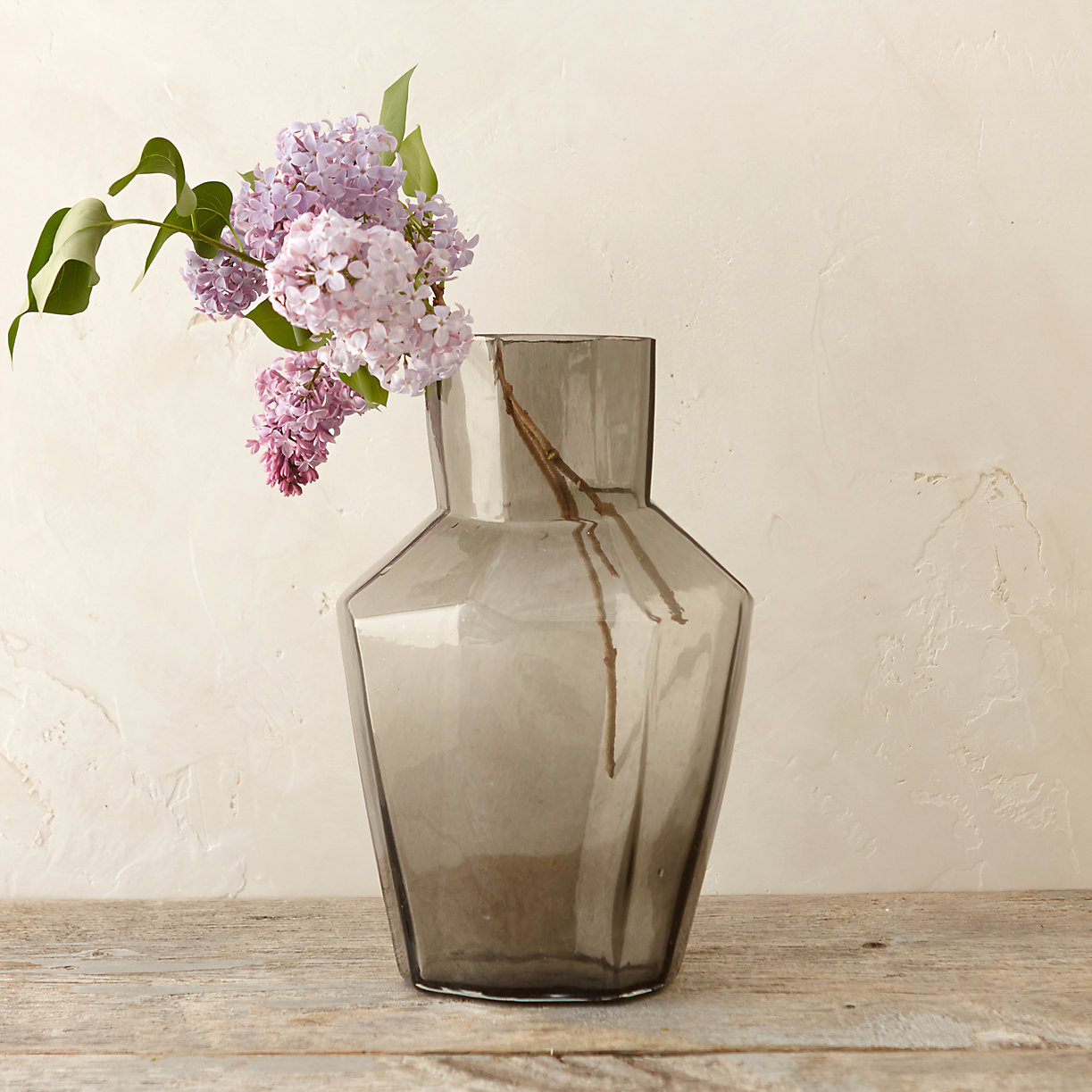 Smoky geometric vase from Terrain