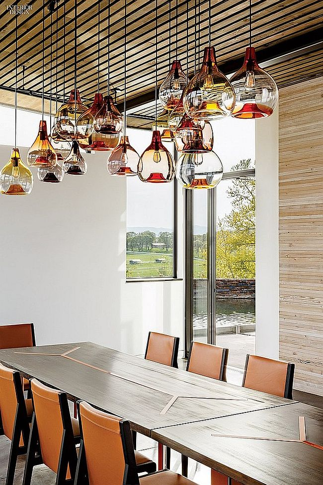 Snazzy pendant light looks like a work of art
