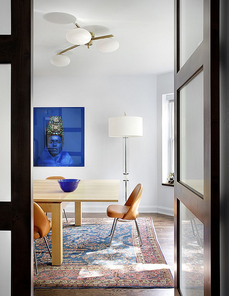 G View In Gallery Spacing It Just Right The Dining Room With Rug Design  Alan Design Studio