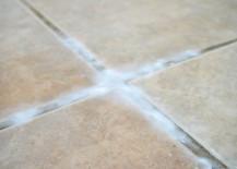 Spray vinegar onto your paste