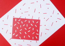 Sprinkle pattern for holiday gift wrap