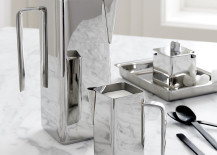 Stainless steel coffee serving pieces from CB2